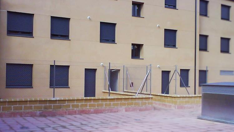 proyecto edificio viviendas fachada patio