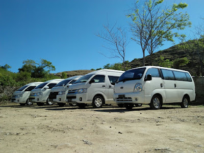 sewa mobil hiace di lombok