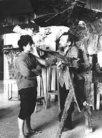 Pablo Serrano escultor con su mujer Juana Francés