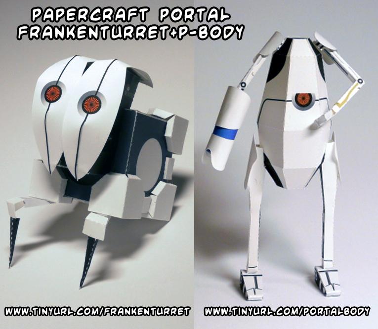 Portal P Body Papercraft