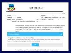 Contoh Surat Permohonan Tambah PTK Pada Aplikasi Dapodik Versi Baru