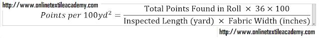 Formula Points per 100 square yard