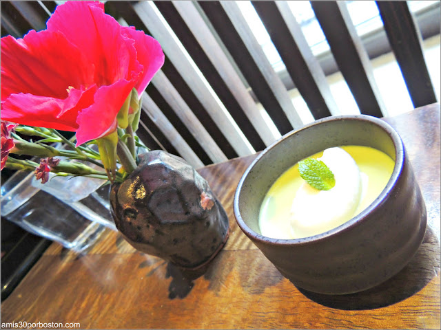 Pudding de Matcha del Chakura Set de Cha-An Teahouse