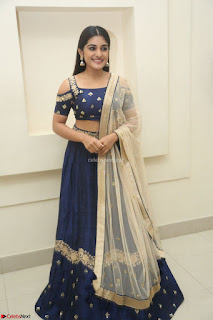 Niveda Thomas in Lovely Blue Cold Shoulder Ghagra Choli Transparent Chunni ~  Exclusive Celebrities Galleries 076