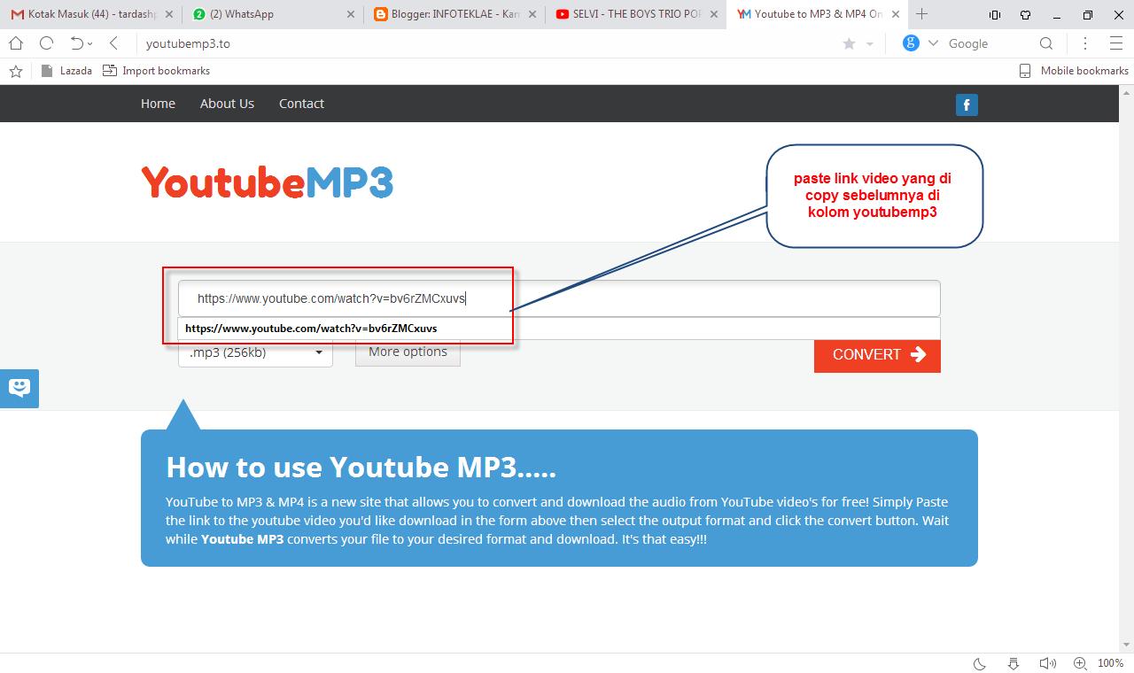 download dari youtube ke mp3
