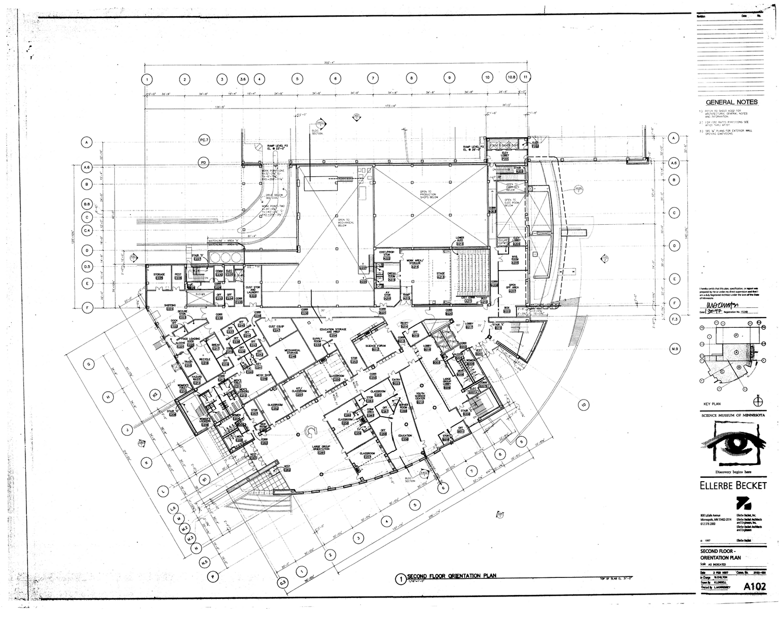 biosystems: Floor plan for Level 2, Science Museum