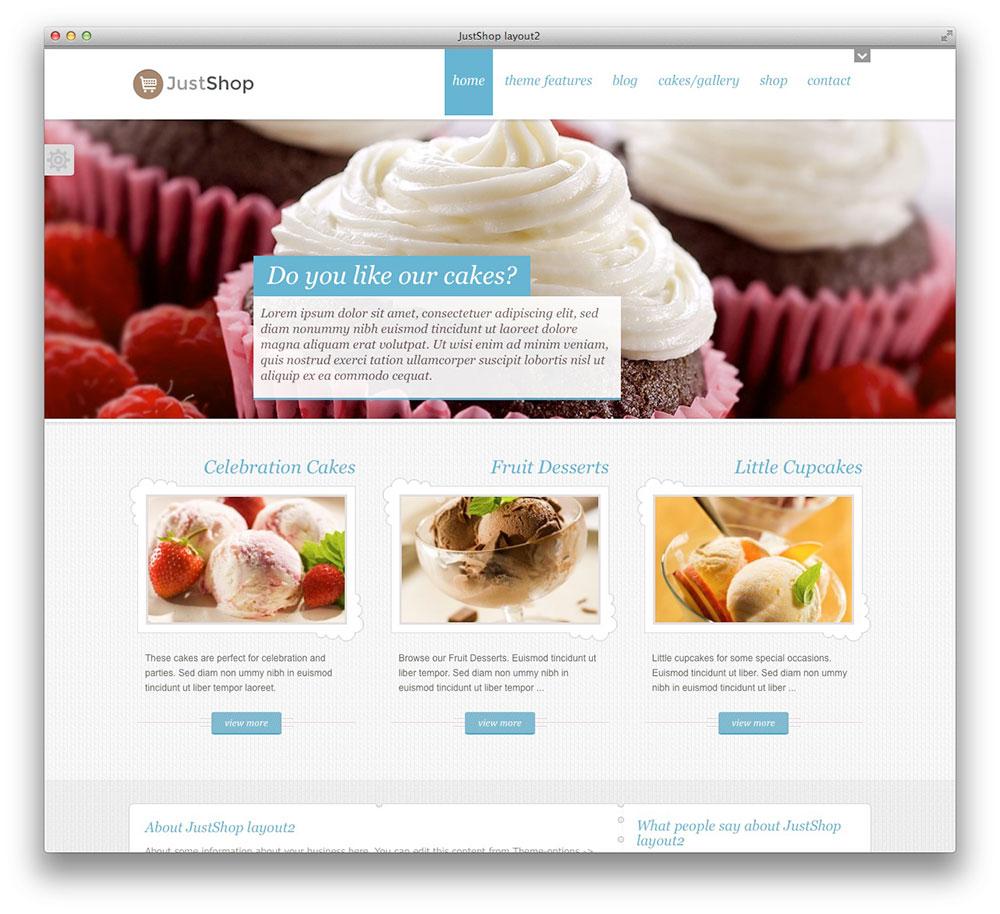 Mẫu trang web được viết bắng WordPress