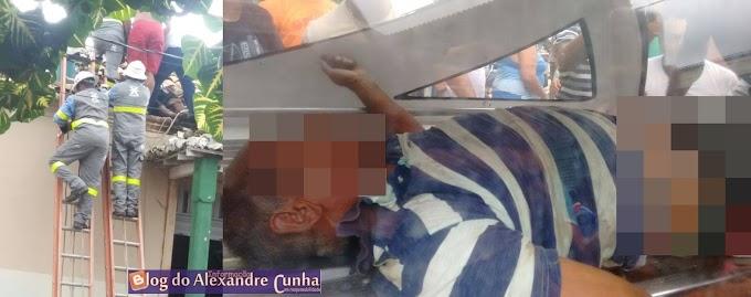Homem morre electrocutado após subir em telhado do IBGE para retirar goteiras, em  São Bernardo MA