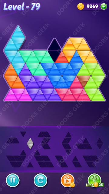 Block! Triangle Puzzle Champion Level 79 Solution, Cheats, Walkthrough for Android, iPhone, iPad and iPod