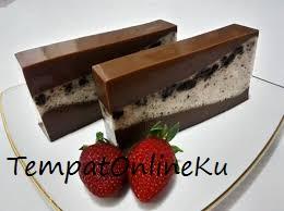 puding coklat ketan hitam