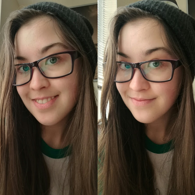 Two selfies of me
