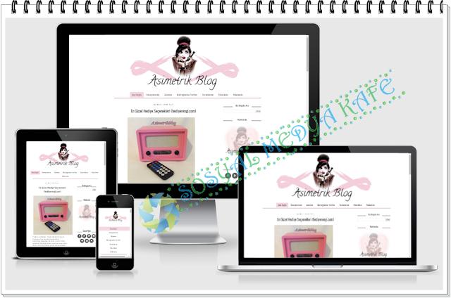 responsive blogger tasarım asimetrik blog tasarım