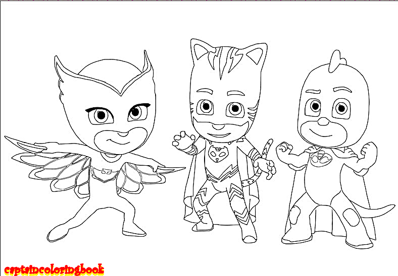 disney pj masks coloring pages free download