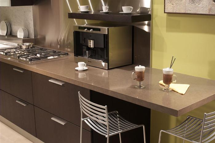 Coffee Color Kitchen Cabinet Design