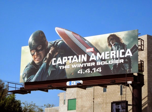 Captain America Winter Soldier special extension billboard