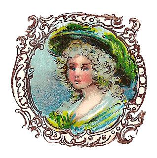 fashion hat illustration antique image digital clipart