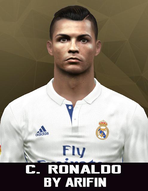 Face C. Ronaldo PES 2016 2017 by Arifin