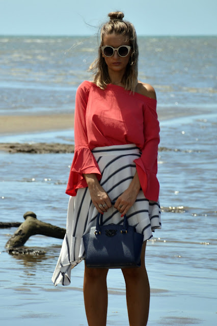 Australian summer lookbook with valleygirl flare sleeve off shoulder trend blogger style