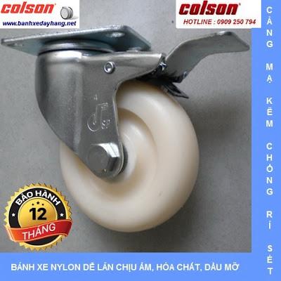 Bánh xe đẩy giá rẻ Nylon 6 PA SP Caster Colson Mỹ chịu tải nhẹ tại Quảng Ngãi www.banhxepu.net