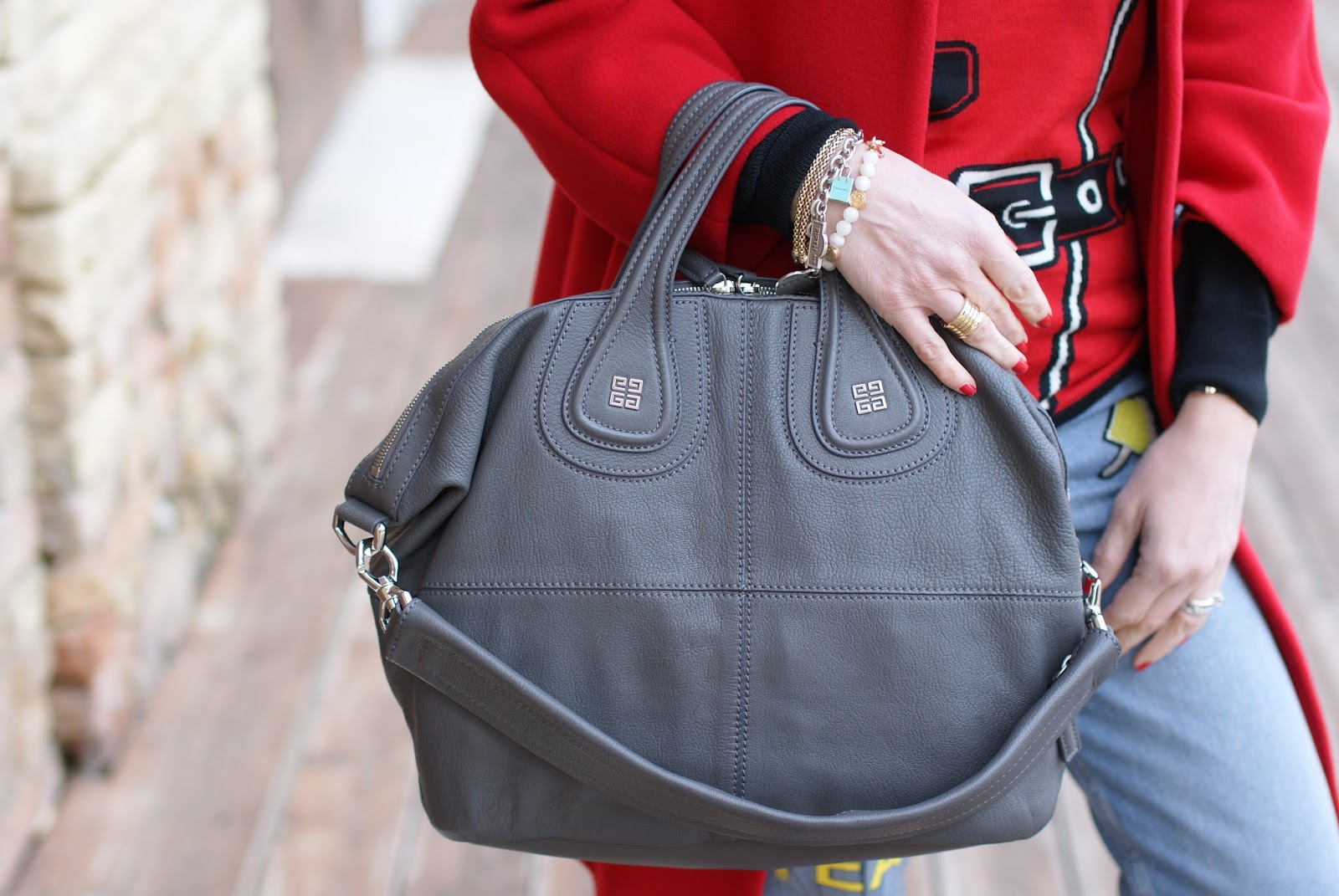 Grey Givenchy Nightingale bag on Fashion and Cookies fashion blog, fashion blogger style