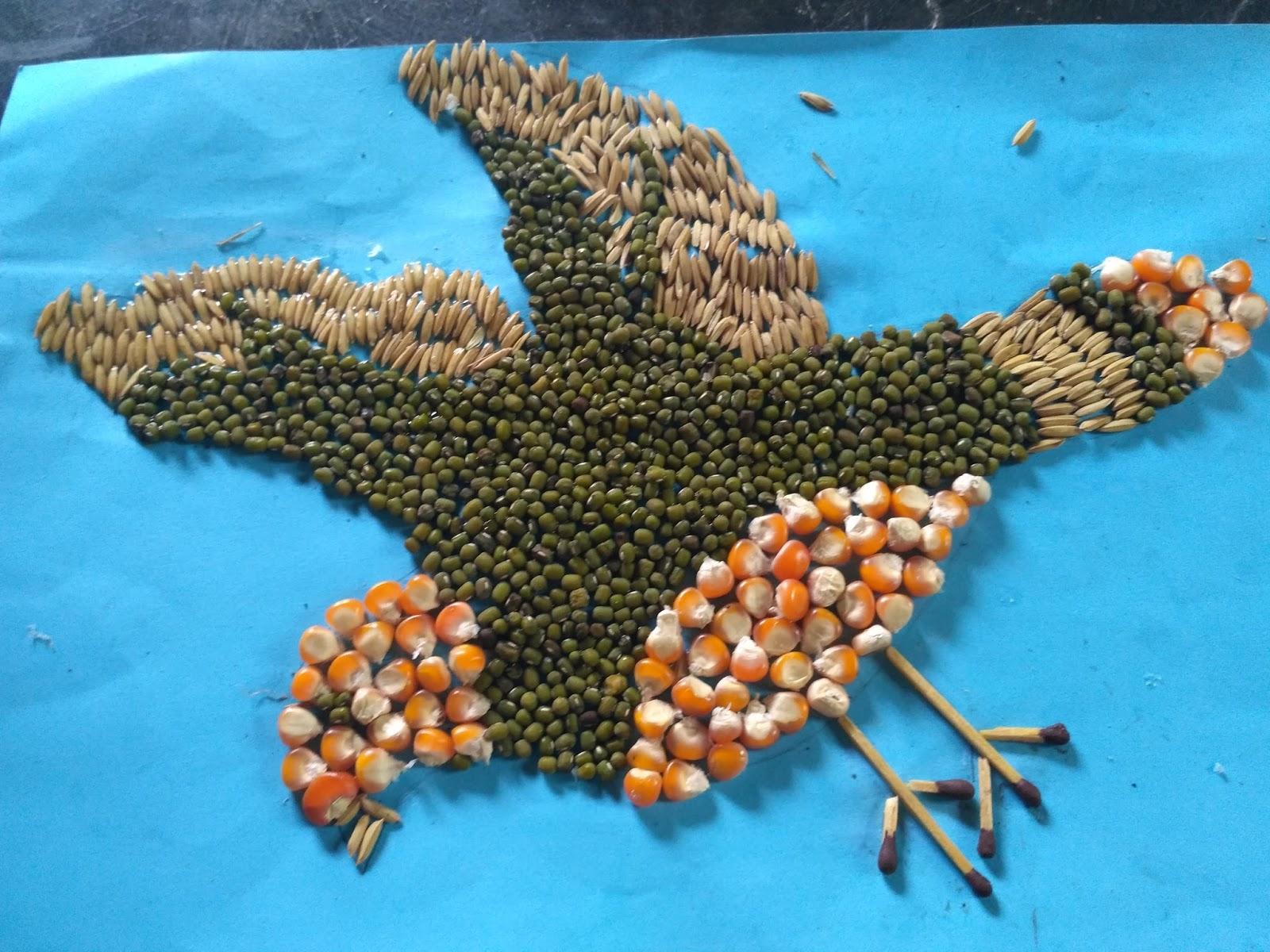 450+ Gambar Kolase Hewan Burung Dari Biji Bijian Terbaru