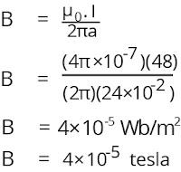 Jawaban soal fisika tentang medan magnetik nomor 1