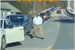 Watch The Moment Man Came Down From His Car And Started Dancing, After He Got Tired Of Traffic