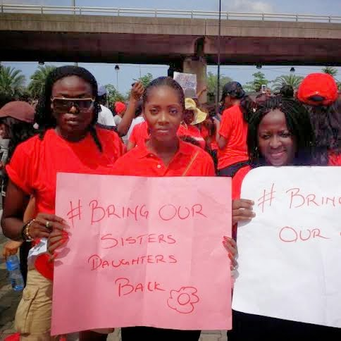 IN PICTURES: Tiwa Savage, Tonto Dike lead #BringBackOurGirls