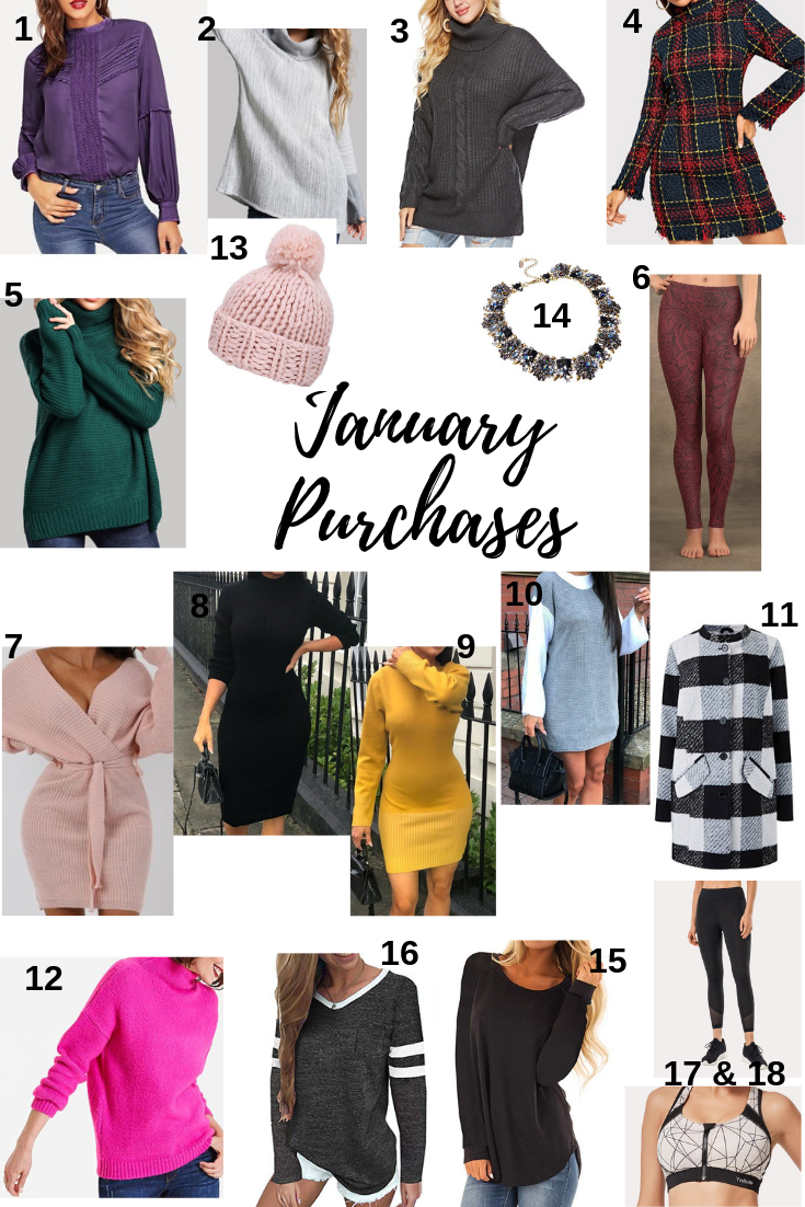 january clothing budget, monthly budget, monthly purchases, january purchases