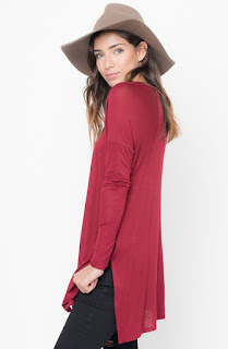 Buy Now Raglan Long Sleeve Tunic Online $28