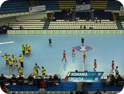 scor la pauza Romania 11 - Croatia 10