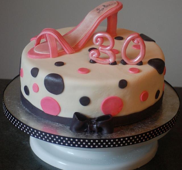 Pink 30th Birthday Cake