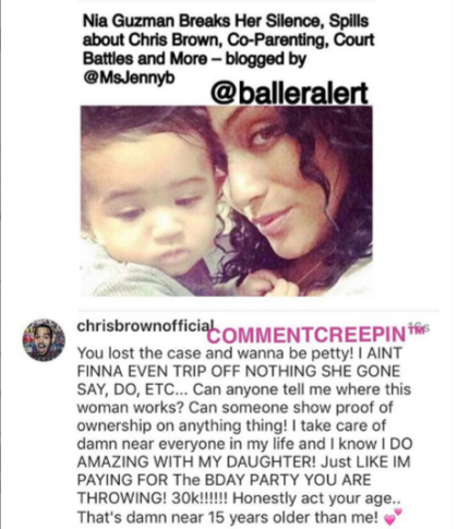 EPIC: Chris Brown & His Babymama Come For Each Other On Instagram