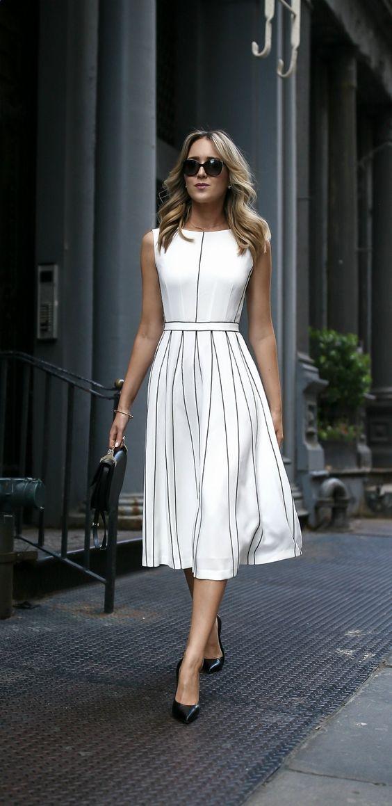 Just A Pretty Style Latest Fashion Trends Women 39 S Fashion Classy White Midi Dress