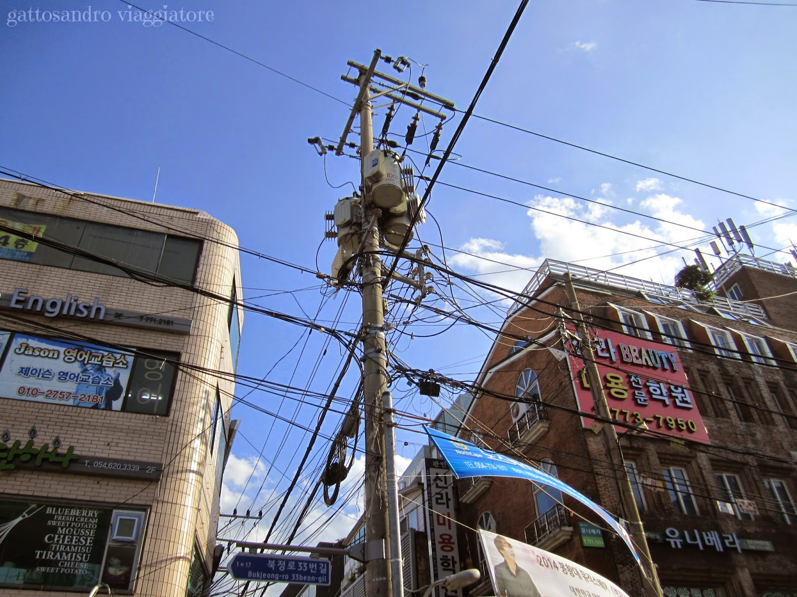Gyeongju - groviglio di cavi