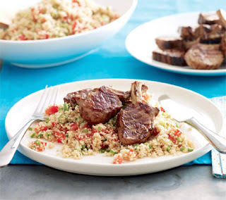 quick bulgur salad with lamb recipe