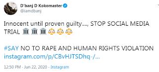R*pe Allegation: D'banj Begs Nigerians To Stop Social Media Trial