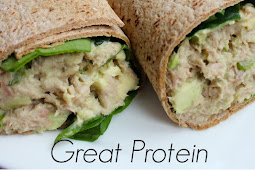 Skinny Tuna Avocado Wrap
