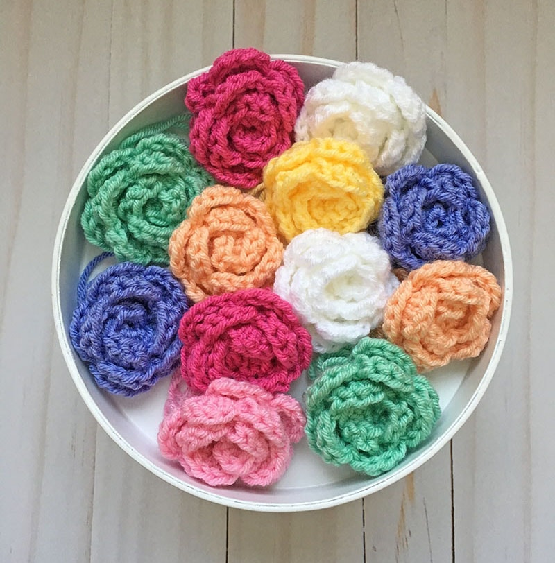 Easy Crochet Rose Tutorial Right Handed Grace And Yarn