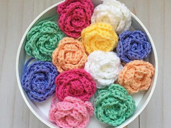 Easy Crochet Rose Tutorial (Right Handed)