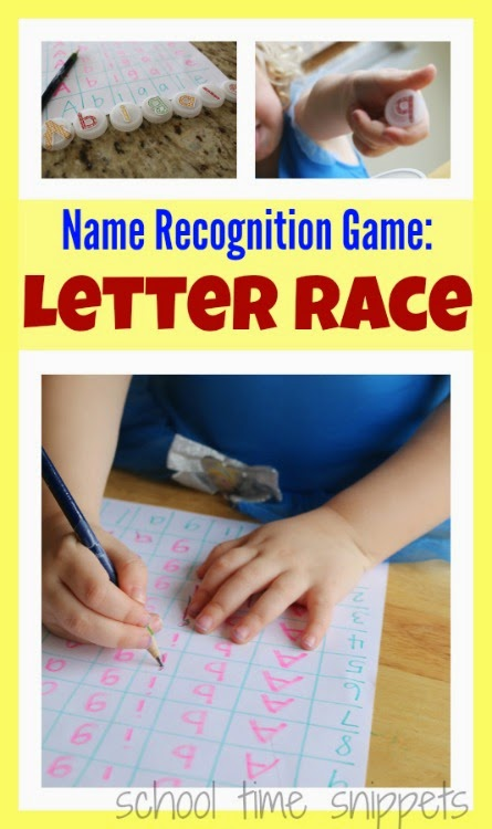 name recognition game for preschoolers