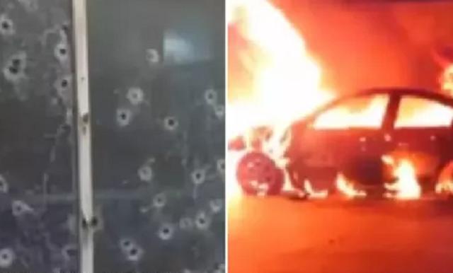 """30 Sicarios de """"La Gente Nueva del Tigre"""" tirotean e incendian comisaría en Chihuahua"""