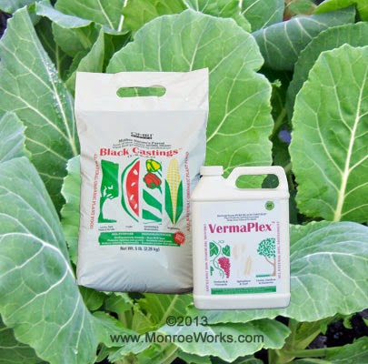 Organic Black Worm Castings and VermaPlex liquid fertilizers