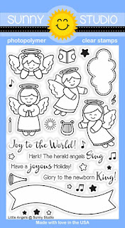 Sunny Studio Stamps: Introducing Little Angels 4x6 Stamp Set