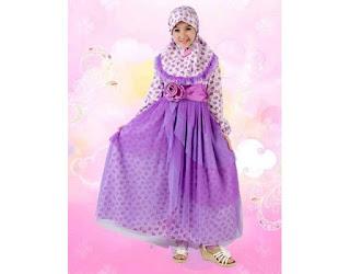 model baju muslim anak perempuan warna putih model baju muslim anak kecil