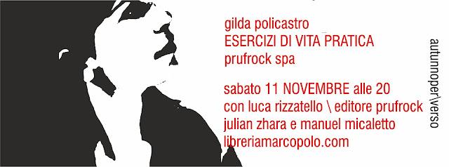 Gilda Policastro alla MarcoPolo - sabato 11 novembre