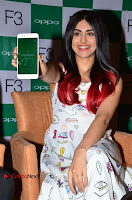 Bollywood Actress Adah Sharma Pos in White Printed Short Dress at OPPO F3 Plus Selfie Expert Mobile Launch .COM 0031.jpg