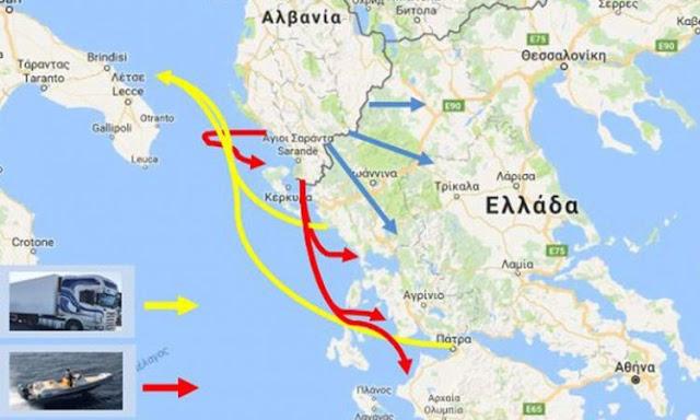 Κομβικό σημείο διαμετακόμισης ναρκωτικών η Πελοπόννησος