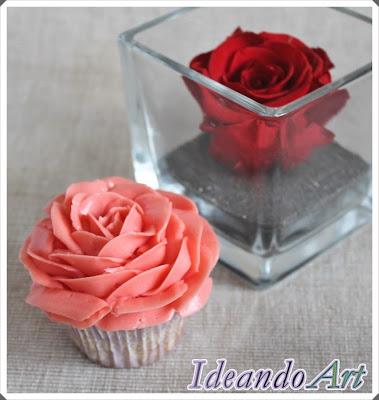 Cupcakes con rosas para San Valentín