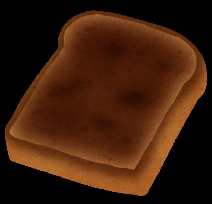 丸焦げのトーストのイラスト かわいいフリー素材集 いらすとや